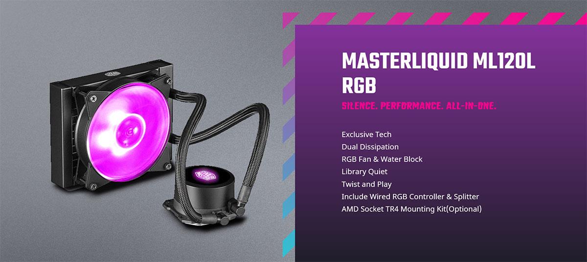 MasterLiquid ML120L 120 RGB CPU Cooler MLW-D12M-A20PC-R1 Intro