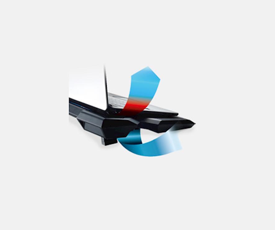 Cooler Master NotePal X3 Aerodynamics Design