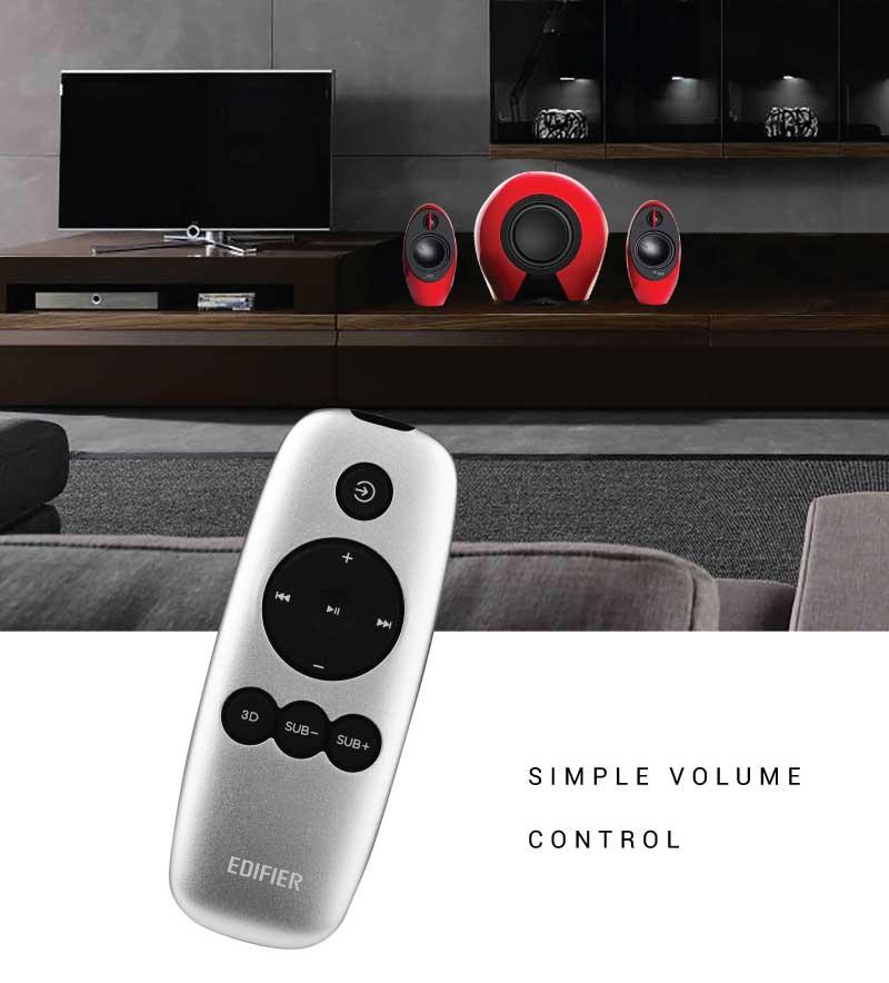 Edifier Luna E E235-BK Sleek Remote