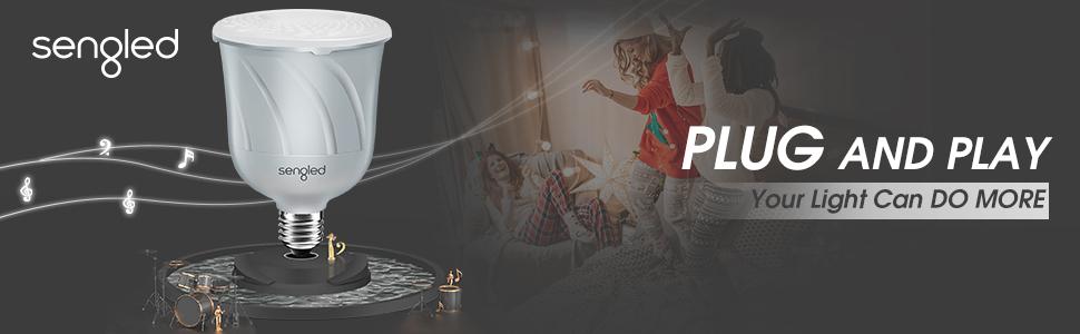 Sengled Pulse Wireless JBL Speaker-LED C01-BR30AUB22WH