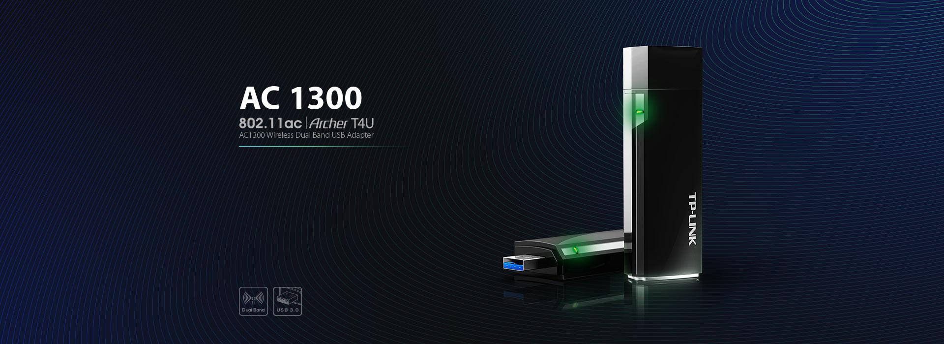 TP-link T4U AC1300 Wireless Adapter TPL00240  Intro