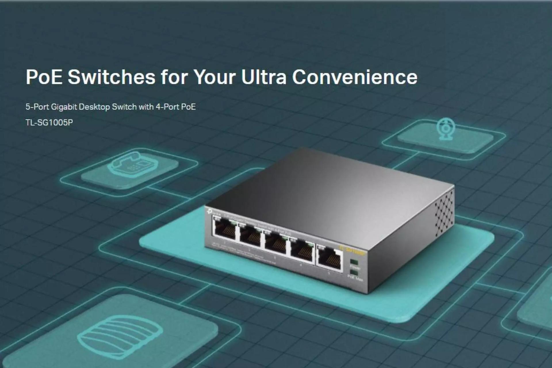 TP-Link TL-SG1005P Desktop Switch Intro