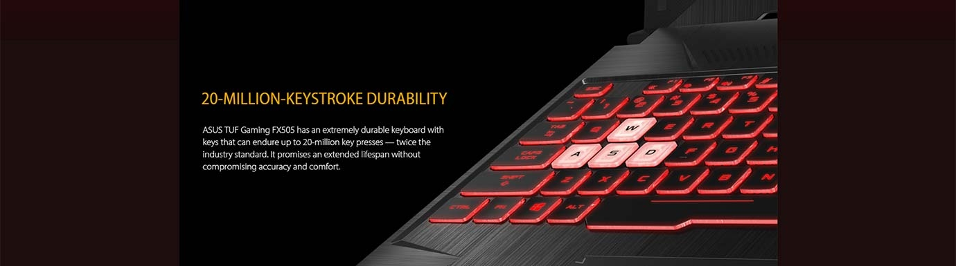 20-MILLION-KEYSTROKE DURABILITY