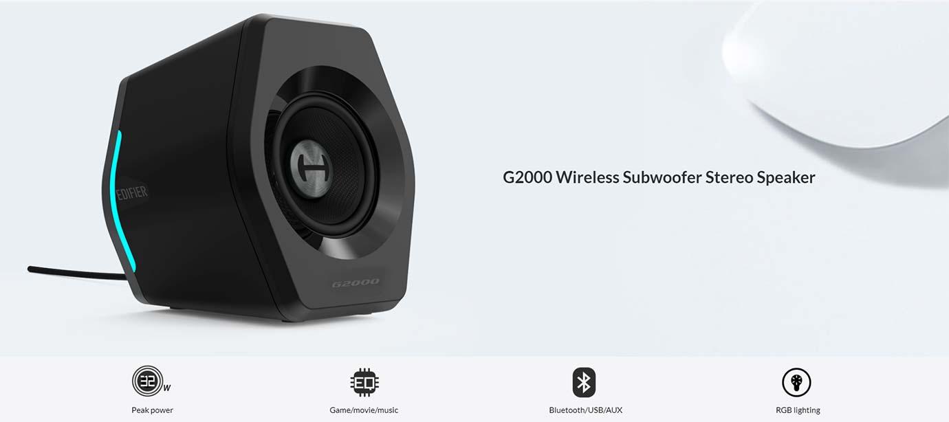 G2000 Wireless Subwoofer Stereo Speaker
