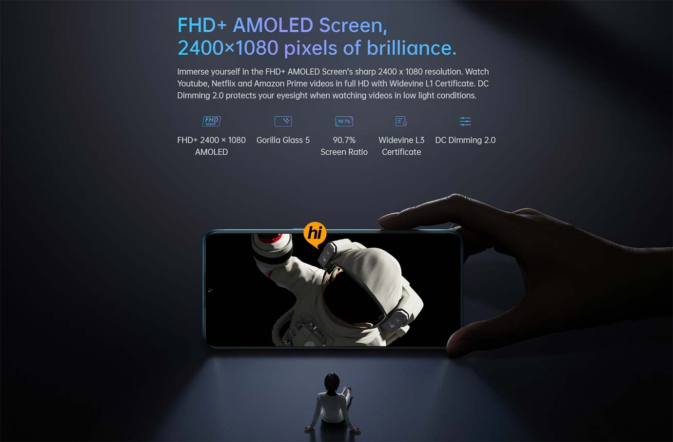 FHD+ AMOLED Screen
