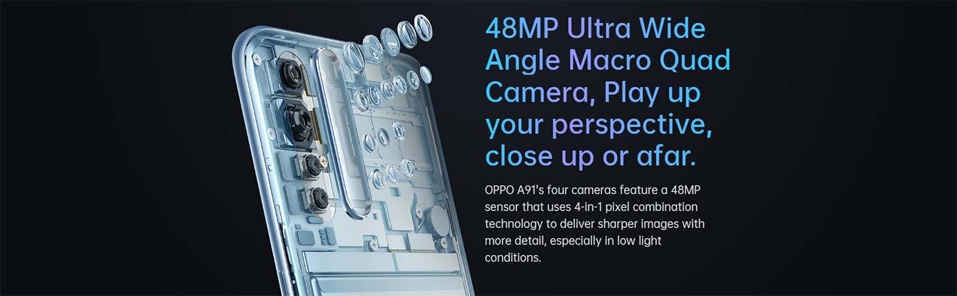 48MP Ultra Wide Angle Macro Quad Camera