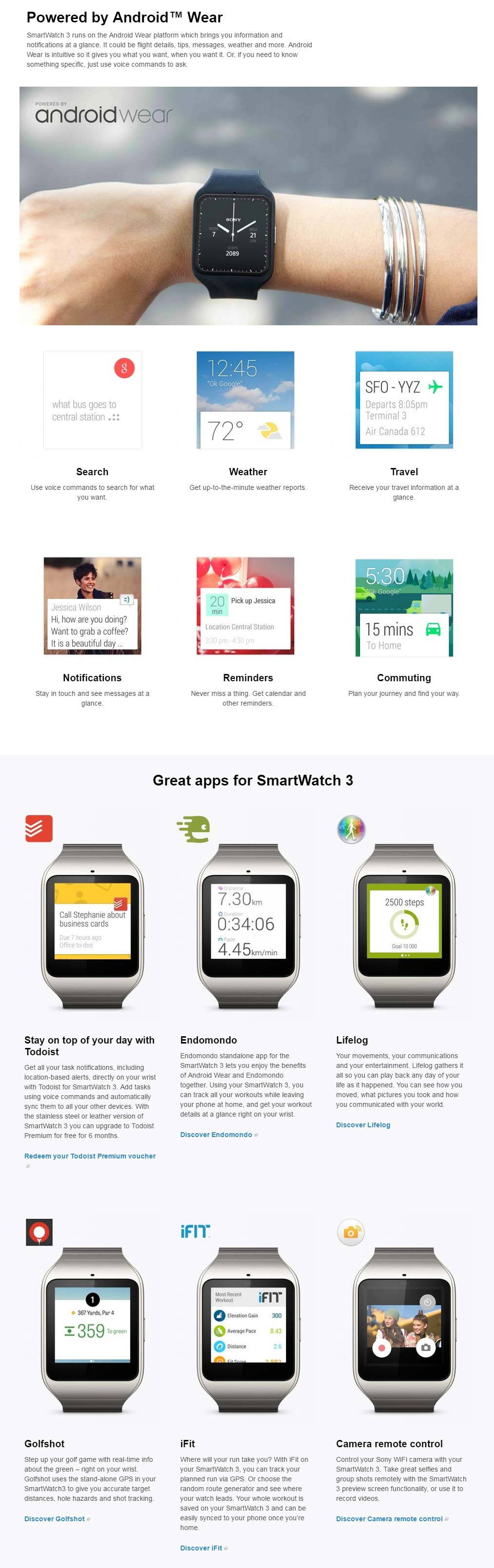 Sony SWR50 SmartWatch 3 - Yellow ( Lime )