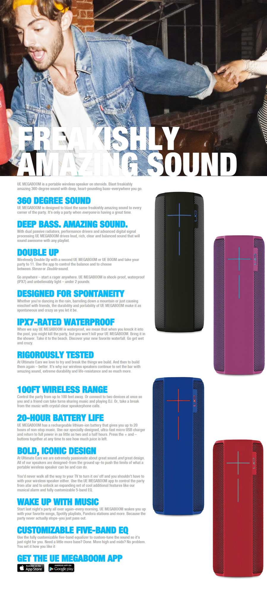 UE MegaBoom Wireless Bluetooth Speaker Blue