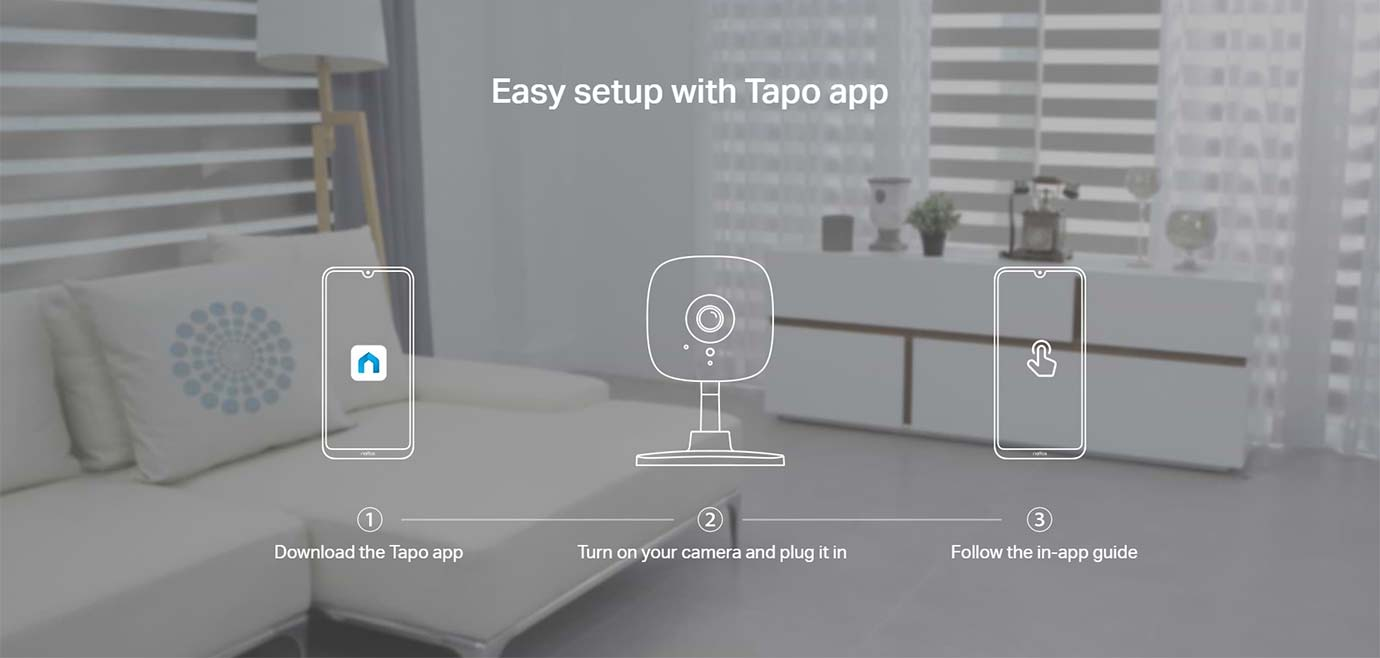 Easy setup with Tapo app
