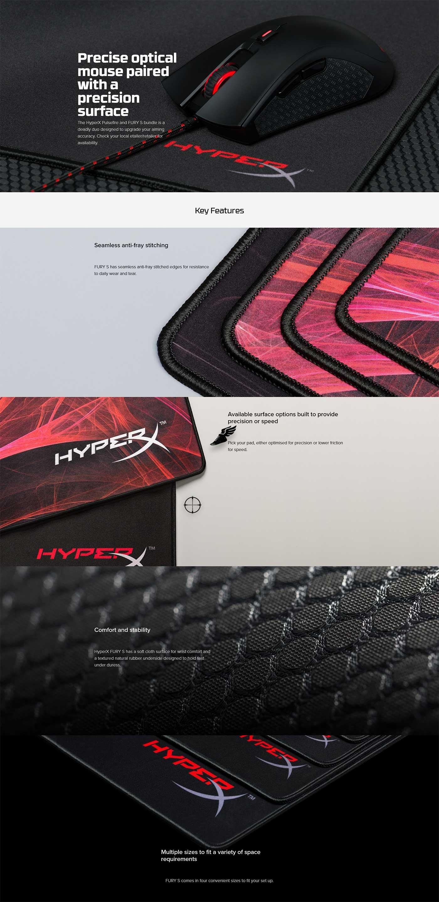 Kingston HyperX Fury S Mouse Pad HX-MPFS-M - Medium Features