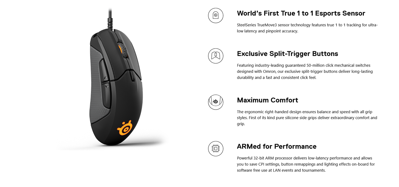 SteelSeries Rival 310 Gaming Mouse Right Hand 62433 Intro