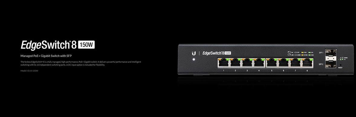 Ubiquiti EdgeSwitch ES-8-150W Gigabit SwitchManaged PoE